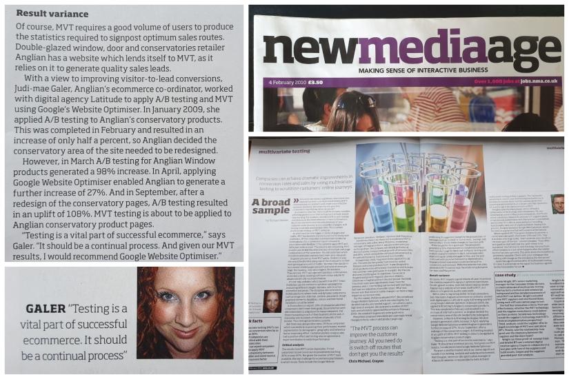 Judi-mae interviewed by NMA magazine in 2010
